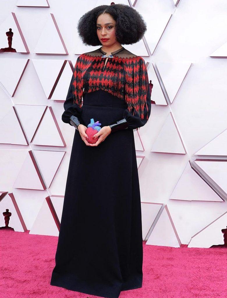 Селеста Уэст в Gucci на 93-ей церемонии премии «Оскар» 2021 года: лучшие наряды красной дорожки